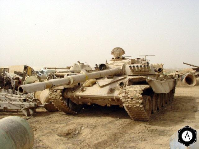 Иракский Т-72 на СППМ, 2003 г
