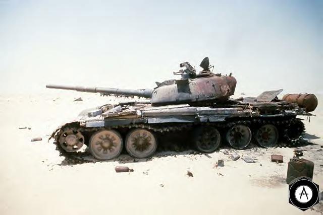Уничтоженный Т-72 иракской армии, 1991 г