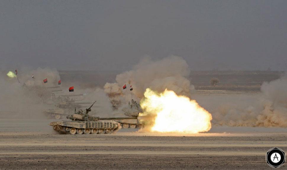 Т-72Б вооруженных сил Йемена на учениях в Марибе (восток Йемена), 03