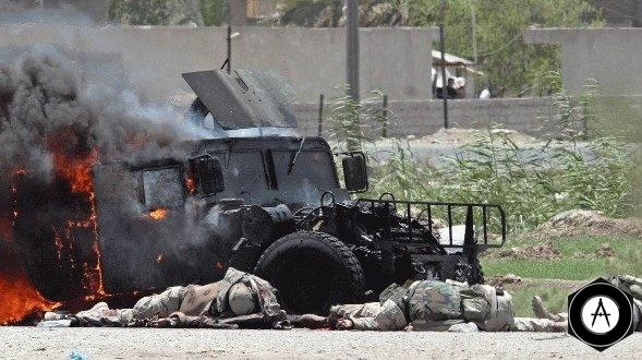 американские танки и бронемашины тоже горят