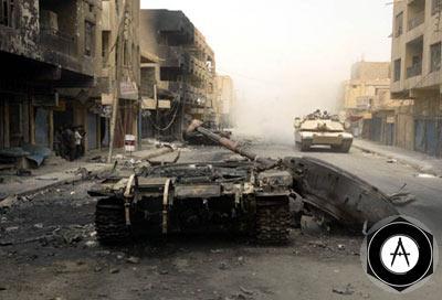 Иракские Т-72, уничтоженные в Багдаде и его пригородах