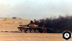 Иракский танк Тип 59-I, подбитый в Кувейте