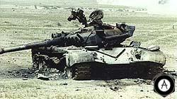 Танки Т-72М, уничтоженные
