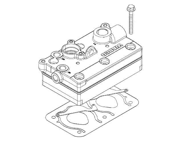 4127049332 Головка блока цилиндров компрессора