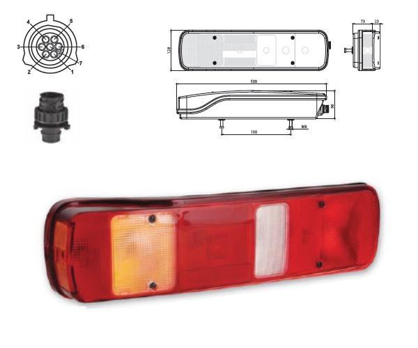 611617 Задний L фонарь Volvo с подсветкой номера