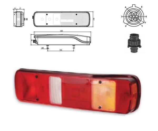 611618 Задний R фонарь Volvo