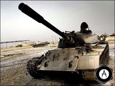Т-55 сгоревший в Ираке